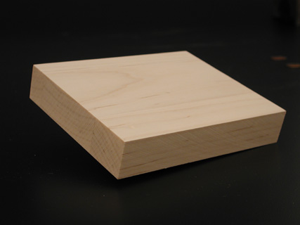 Maple wood cutting block for woodcut carving and making printmaking prints.